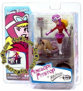 McFarlane Toys Hanna Barbera Series 2 Action Figure Penelope Pitstop with Muttley Dog