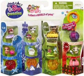 Littlest Pet Shop Teensies Figure 8-Pack Ocean, Arctic, Jungle & Farm