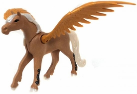 Playmobil LOOSE Animal Tan Pegaus with Gold Wings, White Mane and Calf Markings