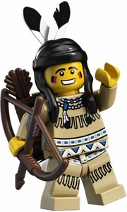 LEGO Minifigure Collection Series 1 LOOSE Mini Figure Tribal Hunter