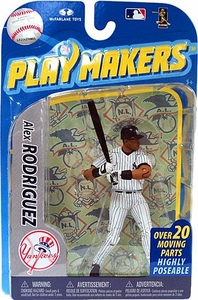 McFarlane Toys MLB Playmakers Series 2 Action Figure Alex Rodriguez (New York Yankees) [Batting Version]