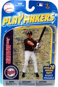 McFarlane Toys MLB Playmakers Series 2 Action Figure Joe Mauer (Minnesota Twins)