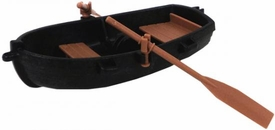 Playmobil LOOSE Accessory Black Row Boat with Tan Oars