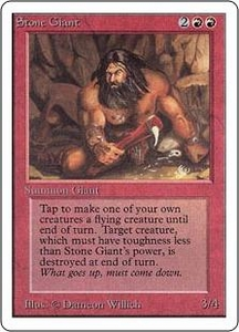 Magic the Gathering Unlimited Edition Single Card Uncommon Stone Giant