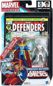 Marvel Universe Greatest Battles Exclusive Action Figure 2-Pack Silver Surfer & Doctor Strange
