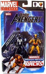 Marvel Universe Greatest Battles Action Figure Comic 2-Pack Dark Wolverine [Daken] & Dark Spider-Man [Venom]