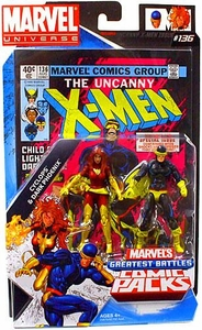 Marvel Universe Greatest Battles Action Figure Comic 2-Pack Cyclops & Dark Phoenix [Jean Grey]