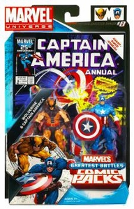 Marvel Universe Greatest Battles Action Figure 2-Pack Wolverine & Captain America