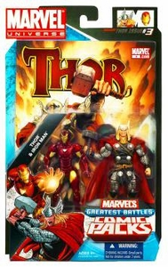 Marvel Universe Greatest Battles Action Figure 2-Pack Thor & Iron Man