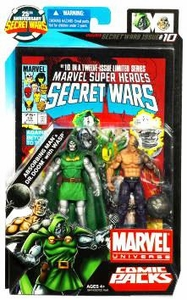 Marvel Universe 25th Anniversary Secret Wars Action Figure 2-Pack Absorbing Man & Dr. Doom with Wasp [Comic Issue #10]