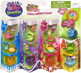 Littlest Pet Shop Teensies Figure 8-Pack Backyard, Theatre, Garden & Beach