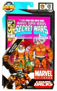 Marvel Universe 25th Anniversary Secret Wars Action Figure 2-Pack Thing & Bulldozer [Comic Issue #12]