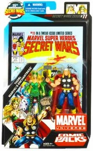 Marvel Universe 25th Anniversary Secret Wars Action Figure 2-Pack Thor & Enchantress [Comic Issue #11]