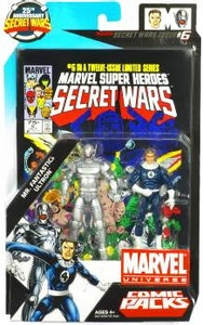 Marvel Universe 25th Anniversary Secret Wars Action Figure 2-Pack Mr. Fantastic & Ultron [Comic Issue #6]
