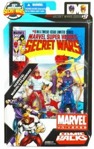 Marvel Universe 25th Anniversary Secret Wars Action Figure 2-Pack Hawkeye & Piledriver [Comic Issue #9]