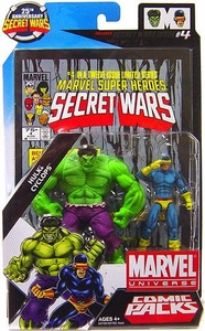 Marvel Universe 25th Anniversary Secret Wars Action Figure 2-Pack Hulk & Cyclops [Comic Issue #4]
