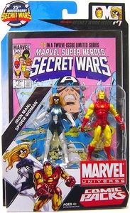 Marvel Universe 25th Anniversary Secret Wars Action Figure 2-Pack Iron Man & Spider-Woman [Comic Issue #7]