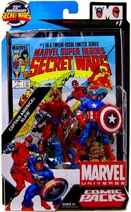 Marvel Universe 25th Anniversary Secret Wars Action Figure 2-Pack Captain America & Klaw [Comic Issue #1]