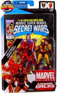Marvel Universe 25th Anniversary Secret Wars Action Figure 2-Pack Human Torch & Wolverine [Comic Issue #2]