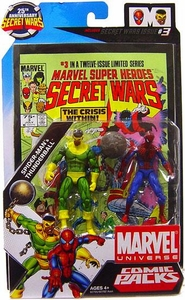 Marvel Universe 25th Anniversary Secret Wars Action Figure 2-Pack Spider-Man & Thunderball [Comic Issue #3]