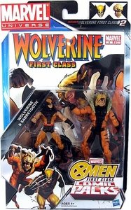 Marvel Universe X-Men First Class Action Figure 2-Pack Wolverine & Sabretooth