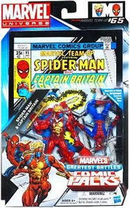 Marvel Universe Greatest Battles Action Figure 2-Pack Spider-Man & Captain Britain BLOWOUT SALE!