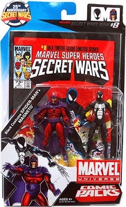Marvel Universe 25th Anniversary Secret Wars Action Figure 2-Pack Magneto & Black Costume Spider-Man [Comic Issue #8]