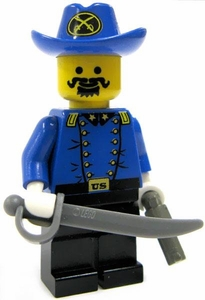 LEGO Civil War LOOSE Mini Figure Cavalry Colonel with Pistol & Saber