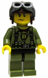 LEGO Dino LOOSE Complete Mini Figure Dino Hunter Helicopter Pilot