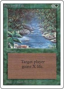 Magic the Gathering Unlimited Edition Single Card Common Stream of Life
