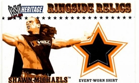 Topps WWE Heritage Trading Cards Ringside Relics Authentic Event Worn Shirt Shawn Michaels (Black)