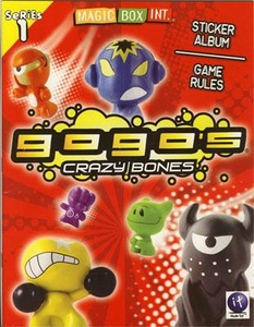 Crazy Bones Gogo's Series 1 Sticker Album & Game Rules Book [Includes Booster Pack]