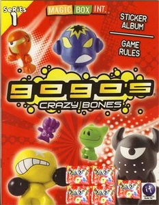 Crazy Bones Gogo's Series 1 Sticker Album & Game Rules Book [Includes 5 Booster Packs]