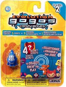 Crazy Bones Gogo's Series 2 Evolution Blister Pack [5 Random Figures & 9 Stickers!]