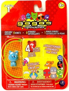 Crazy Bones Gogo's Series 1 Blister Pack [5 Random Figures & 9 Stickers!]