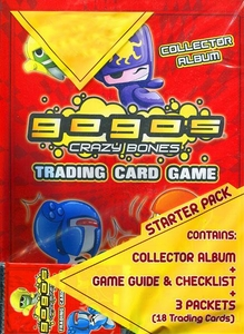 Crazy Bones Gogo's Series 1 Power Starter Pack [Includes Collector Album, Game Guide with Checklist & 3 Packs]