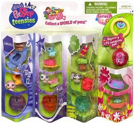 Littlest Pet Shop Teensies Figure 8-Pack Clubhouse, Theatre, Park & Garden