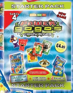 Crazy Bones Gogo's Series 4 Power Starter Pack [Includes Collector Album, Game Guide with Checklist & 1 Packs]