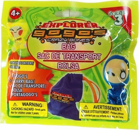 Crazy Bones Gogo's Series 3 Explorer BAG & 4 Booster Packs [18 Crazy Bones & 1 Carry Bag]