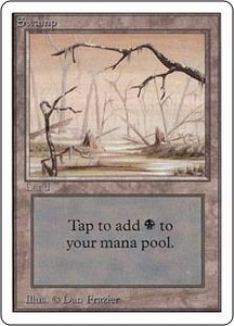 Magic the Gathering Unlimited Edition Single Card Land Swamp [Random Artwork]