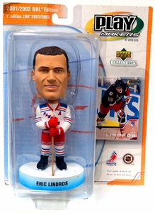 PlayMakers NHL New York Rangers Bobble Head Eric Lindros Damaged Package, Mint Contents!