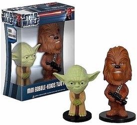 Funko Star Wars Mini Bobble Head 2-Pack Yoda & Chewbacca