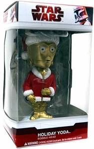 Funko Star Wars Holiday Bobble Head Holiday C-3PO in Holiday Yoda Box
