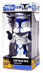 Funko Star Wars Saga 2008 Clone Wars Wacky Wobbler Bobble Head Captain Rex