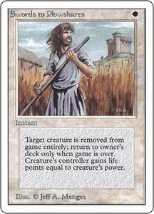 Magic the Gathering Unlimited Edition Single Card Uncommon Swords to Plowshares