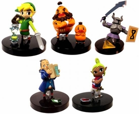 Tomy Gacha Legend of Zelda Phantom Hourglass 2 Inch PVC Set of All 5 Figures