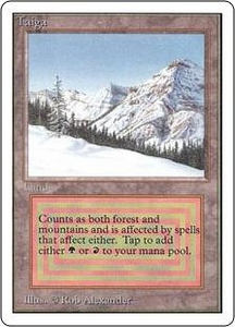 Magic the Gathering Unlimited Edition Single Card Rare Taiga