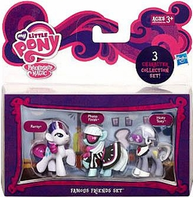 My Little Pony Friendship is Magic Famous Friends 3-Pack Rarity, Photo Finish & Hoity Toity