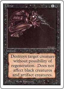 Magic the Gathering Unlimited Edition Single Card Common Terror