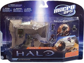 Halo McFarlane Micro Ops Series 1 Large Carded Mini Figures High Ground Bunker COLLECTOR'S CHOICE!